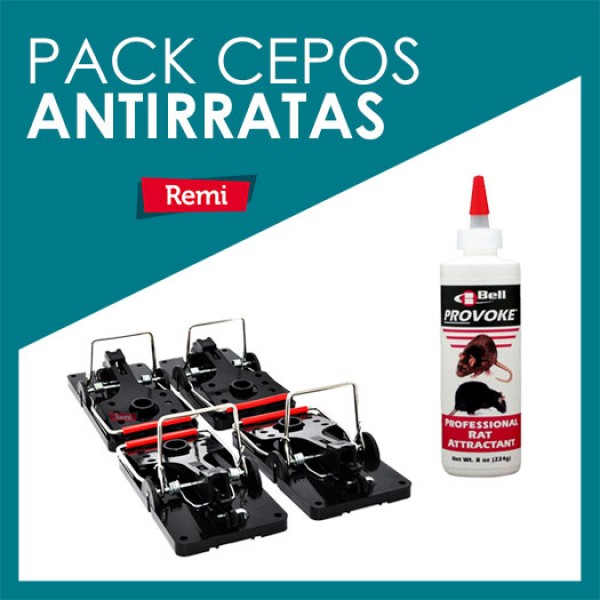Pack cepos antirratas