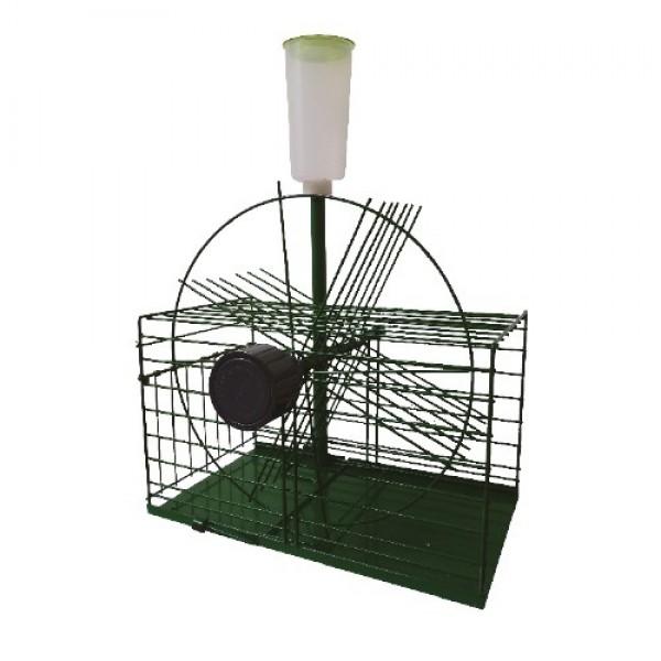 Sistema de entrada de palomas rotatorio