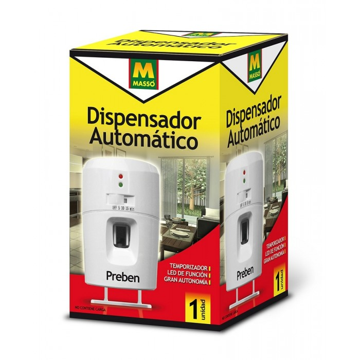 Dispensador autom tico preben para aerosol 250 ml for Dispensador de comida automatico