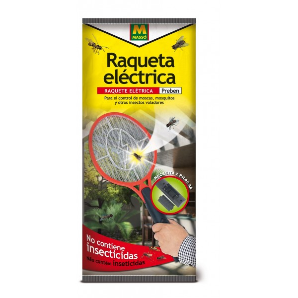 Raqueta eléctrica mosquitos