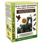 Pack 3 globos anti aves y palomas
