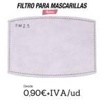 Filtros Mascarillas PM 2.5