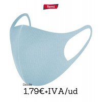 Mascarilla Higienica azul reutilizable