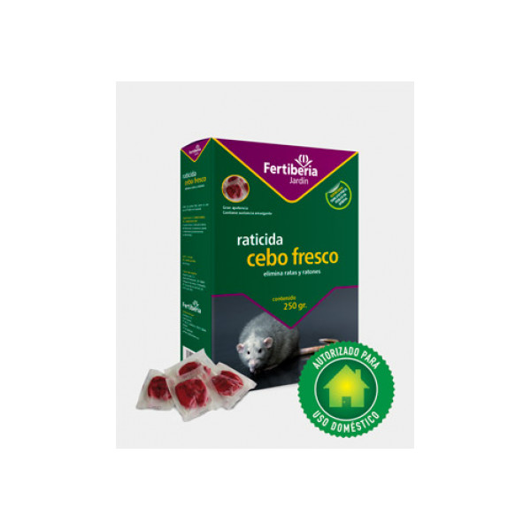 Raticida cebo fresco Fertiberia 250gr