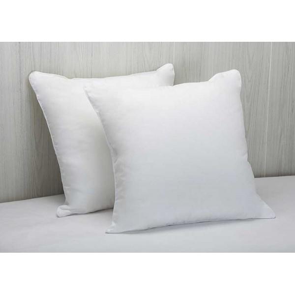 Almohada cuadrante 100% algodón y antiácaros