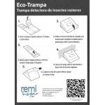 Trampa Atrayente Adhesiva cucarachas e insectos rastreros